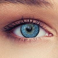 """Lentillas de color azul claro natural de tres meses sin dioprtías / corregir + gratis caso de lente """"Natural Sky"""""""