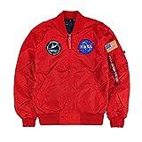Alpha Industries Jacke MA-1 TT NASA Reversible II, Größe:2XL, Farbe:speed red