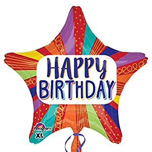 "Amscan International - 3456401 ""rayas Star Happy Birthday"" estándar Foil Balloon"