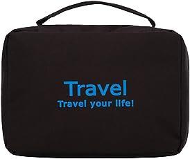 Styleys Canvas Travel Organizer Bag(Black, 23 X 20 X 10cm)