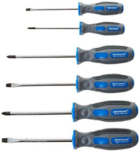 Silverline Tools 546524 - Juego de Destornilladores Universales, 6 piezas, color azul