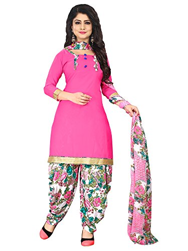Mrinalika Fashion Women'S Crepe Unstiched Dress Material ( Pink_Pjm27_Free Size )