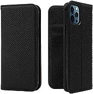 LANJLM Case For iPhone 12 mini / 12 Pro / 12 Pro Max - Genuine Leather