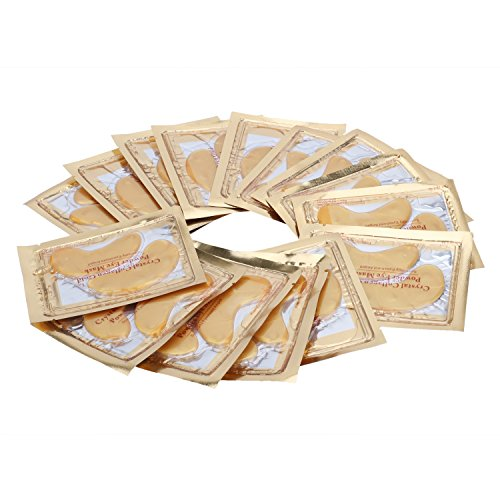 15x Packungen Originale Augenpads Augen Maske Gold mit Hyaluronsäure & Collagen (Gesichtsmaske Hyaluronsäure)