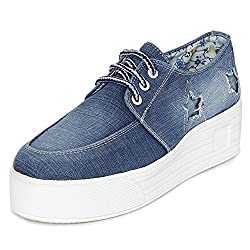 1 WALK MAPPLE COLLECTION ORIGINAL COMFORTABLE STYLISH WOMEN SHOES /SNEAKERS/COLLEGE WEAR/2018 LATEST COLLECTION/PARTY WEAR/CASUAL WEAR/WEEDING WEAR-Light Blue-K216B-40