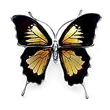 Amazing ambre et argent Sterling 925 Pendentif/Broche Papillon monarque