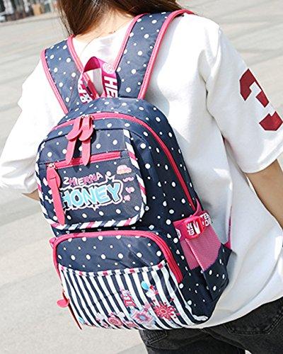 Keshi Nylon Niedlich Damen accessories hohe Qualität Einfache Tasche Schultertasche Freizeitrucksack Tasche Rucksäcke Deep Lila