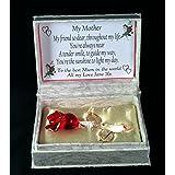 Caja de regalo personalizado para la madre, cristal rosa en poema con propio mensaje Ideal día de la madre u otra ocasión