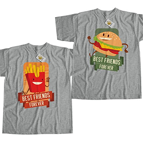 best-friends-forever-shirt-burger-and-fries-maglietta-best-friends-outfit-unisex-style