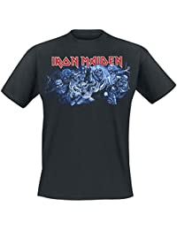 Iron Maiden Wasted years Camiseta Azul marino