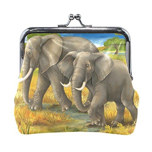 COOSUN Elefantes de la Mama y Carpeta de la Moneda del Embrague...