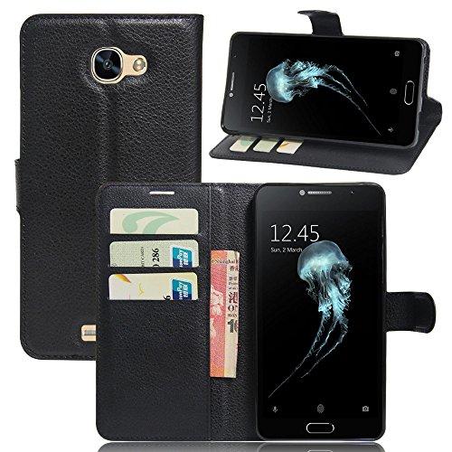ECENCE Handyhülle Schutzhülle Case Cover kompatibel für Alcatel Flash Plus 2 Handytasche Schwarz 21030207