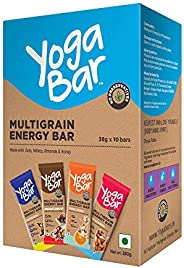 Yogabar Multigrain Energy Bars 380Gm Pack (38G x10) - Healthy Diet with Fruits, Nuts, Oats and Millets, Gluten