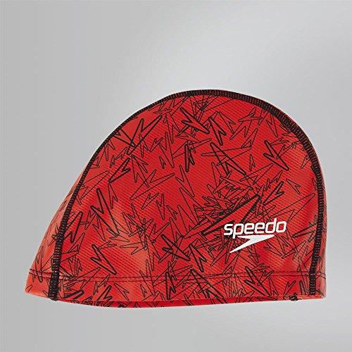 Speedo 8112373991, cuffia da nuoto uomo, rosso/nero, taglia unica