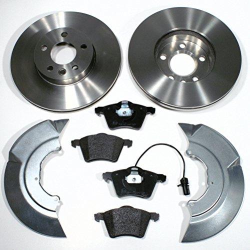 Bremsscheiben Ø 300 mm/Bremsen 1LB + Bremsbeläge + Warnkabel + Spritzbleche für vorne/für die Vorderachse