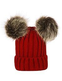 Cappello Bambino Topgrowth Inverno Neonato Cappelli in Lana Bimba Maglia  Orlo Cappello Lana di Maglia Berretto fa9f05e0eb3c