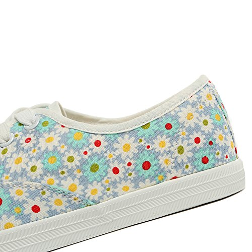 Alexis Leroy - Sneakers Basse con stampa floreale donna Blu