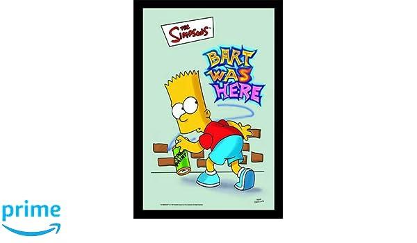 Empire Merchandising 538246 Miroir imprim/é avec Cadre en Plastique Effet Bois The Simpsons Famille 20 x 30 cm