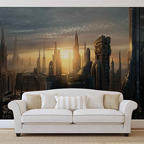 star-wars-city-coruscant-photo-wallpaper-wall-mural-easyinstall-paper-giant-wall-poster-xl-208cm-x-1