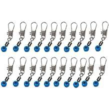 SODIAL(R) Azul Conector de Clip Eslabon Sedal a Gancho