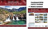 Scotland Family Organiser Family Planner Kalender 2019 + Blank Kühlschrankmagnet