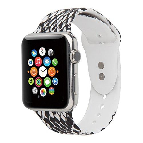 Foto de YOUKESI Correa Apple Watch 38mm/42mm Silicona Blando Diseño de Temporadas Para Apple Watch Series 3/2/1