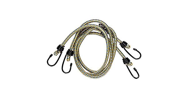 Corde Elastiche per Impieghi Gravosi per Caravan Campeggio Camper Bauli Portapacchi Cinghie Elastiche Elastiche Corda per Bagagli 2 Pezzi Cinghie Elastiche con Ganci