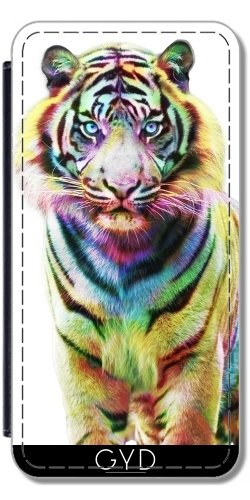 Custodia in silicone per Iphone 7 / Iphone 8 - Colorato Tiger by Julien Kaltnecker Similpelle