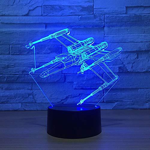 Nachtlicht Usb 7 Farbwechsel 3D Led Nachtlicht Flügel Simulation Kind Touch Button Flugzeug Tischlampe Laser Licht Dekoratives Licht -