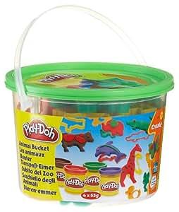 Play-Doh - Loisir Créatif - Pâte à Modeler - Mini Barils - Les Animaux