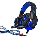 R4mpage RP-6110 Gaming Stereo Kopfhörer mit Mikrofon LED Beleuchtung über USB mit 3,5 mm Stecker schwarz/blau - gut und günstig
