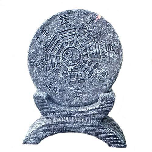 steinfiguren-neumann chinesisches Gartenhoroskop Schriftzeichen Yin Yang Steinguss Gartenfigur
