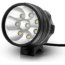 Kingtop 12000LM 8x CREE XM-L T6 LED Luz delantera para Bicicleta Bici MTB con Recargable Batería y Cargador -Negro