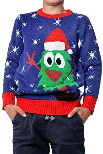 annenbaum Ugly Christmas Sweater Pullover Weihnachten 98-152 (Mütze Und Kleid Für Den Kindergarten)