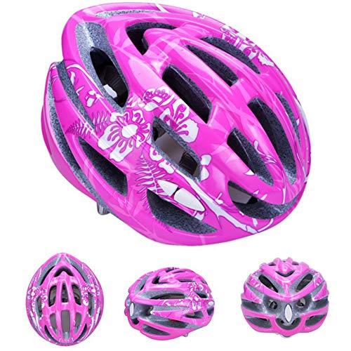 Kinder Inlineskating Helm Fahrradreithut für Männer und Frauen Skating Inlineskates, geeignet für Kopfumfang (50-58cm)-Pink