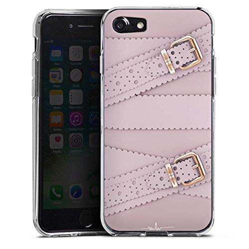 Apple iPhone X Silikon Hülle Case Schutzhülle Leder Mode Schnallen Silikon Case transparent