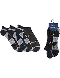 3 Pairs of Mens Trainer Liner Cushion Sport Socks