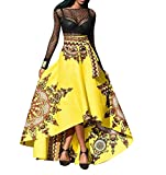 Gonna Stampato Casual Africano Righe A-Line Maxi