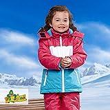 Kleinkinder Mädchen Schneejacke Skijacke Blau-pink-weiss (74/80)
