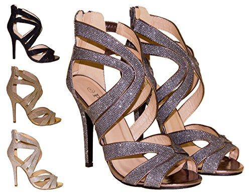 Poshh! Femmes scintillement sandales
