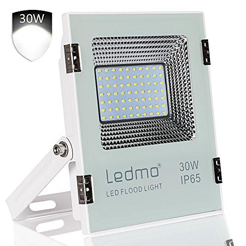 LEDMO Faretto LED Esterno 30W Faretti Led con SMD2835 3000LM LED Chips IP65Impermeabile Faro LED Proiettore 6000K Multiuso per Decorazione di Illuminazione in Casa Giardino