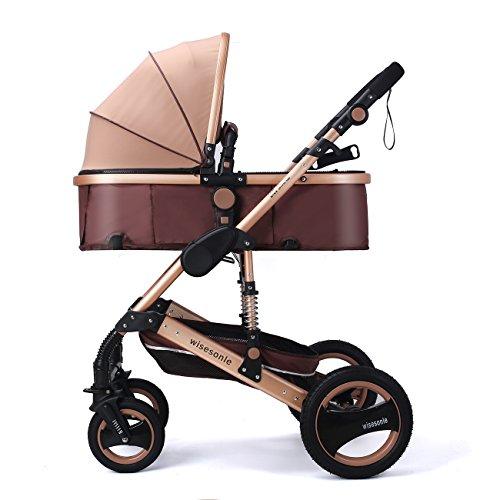 YBL Hohes Sichtfeld baby Buggys Vier Runden Kinderwagen Klappbare Federung Die Wahl der Stadt Kann sitzen und liegen Vier Jahreszeiten gelten Geeignet für Neugeborene