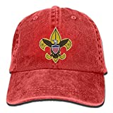ruishandianqi Boy Scouts Retro Unisex Adjustable Cotton Denim Hat Washed Retro Gym Hat Cap Hat