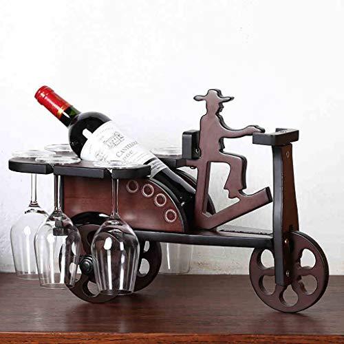 Rong jiu Holz Weinregal 6 Weingläser Halter Auto Weinschrank Upside Down Weinflasche Rack Home...