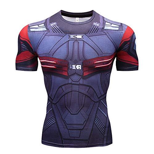 Herren Kurzarmshirts Avengers 3 Thor 3D Print T-Shirt Herren Kompressionshemd Cosplay Kostüm (Farbe : #14, größe : XXL) (Thor Herren Kostüm)