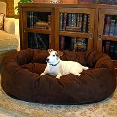slatters be royal store Round Shape Reversible Dual Ultra Soft Ethnic Designer Velvet Bed for Dog/Cat, XXL (Brown)