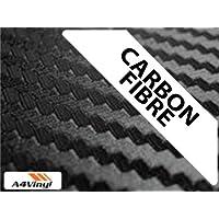 Colore: nero fibra di carbonio avvolgente vinile, formato A4, 297 x 210 mm, 3 x-adhesive-Fogli in fibra - A4 In Fibra Di Carbonio