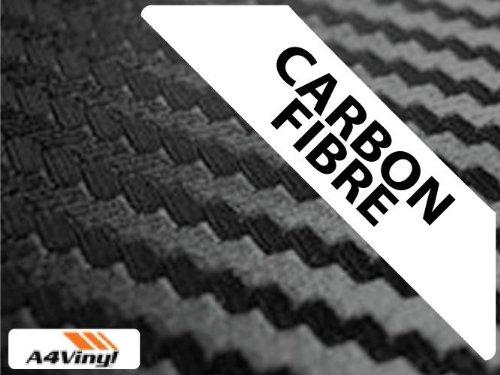 Confezione da 1 foglio autoadesivo, colore: nero, in fibra di carbonio e vinile, formato A4, 297 x 210 mmConfezione da 1 foglio autoadesivo, colore: nero, in fibra di carbonio e vinile, formato A4, 297 x 210 mm - A4 In Fibra Di Carbonio