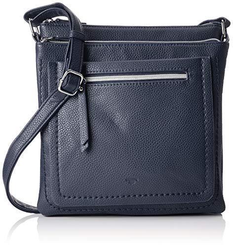 TOM TAILOR für Frauen Taschen & Geldbörsen Umhängetasche Becky dark blue cognac, OneSize