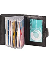 Rimbaldi - XXL-Kreditkartenetui mit 19 Kartenfächer aus weichem, naturbelassenem Kalbsleder